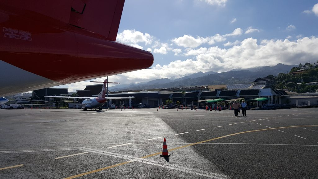 Der internationale Flughafen von Tahiti
