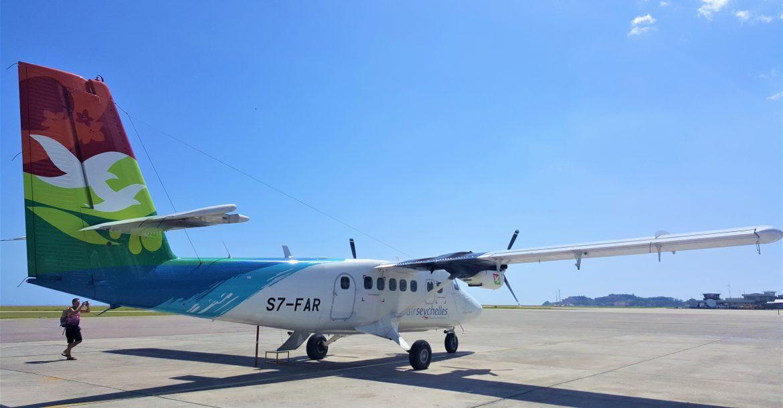 Ein Flugzeug von Air Seychelles