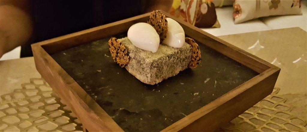 Essbarer Stein im Restaurant