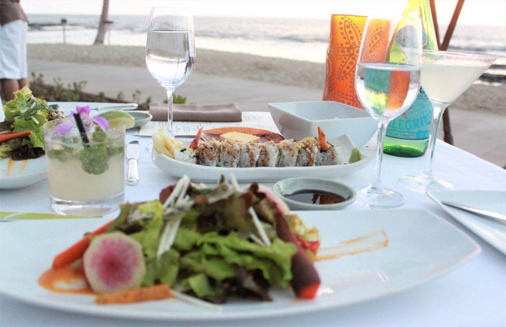 Restaurant am Strand in Hawaii